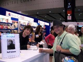 Adam with Neil Gaiman