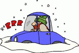 car in blizzard